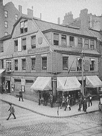 Historic photo: old corner book store
